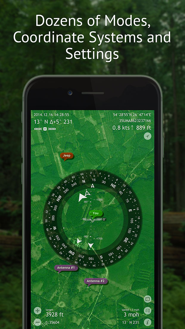 Commander Compass – Best Compass, Maps and GPS Navigator Kit