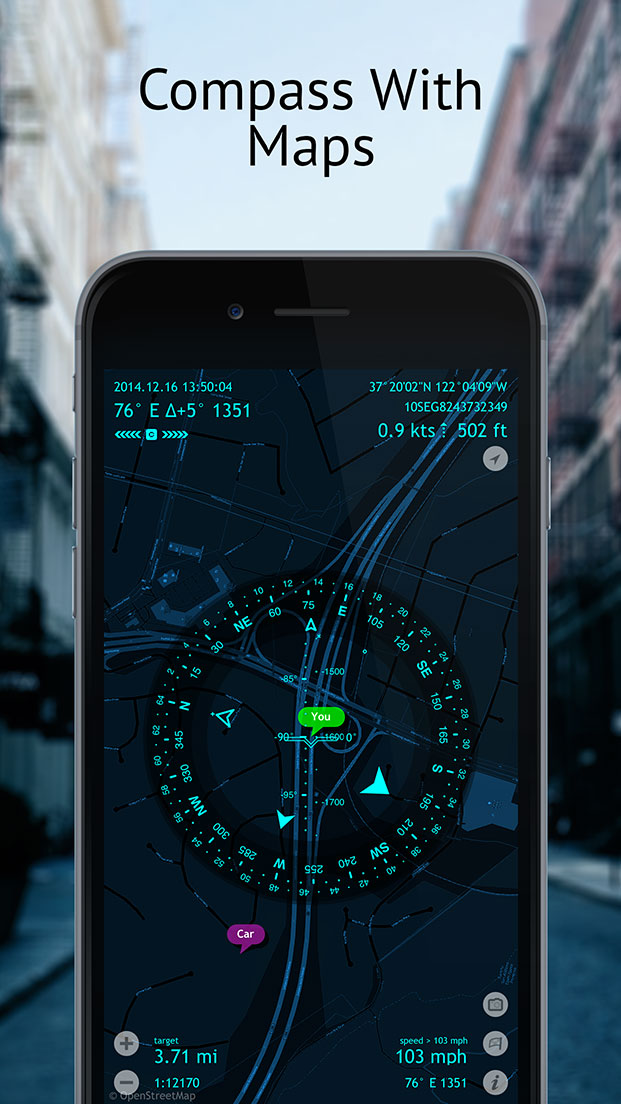 Spyglass – Best Augmented Reality Compass, Maps and GPS Navigator